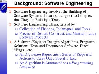 Background: Software Engineering