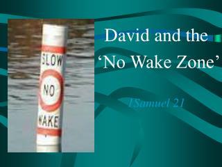 David and the  �No Wake Zone� 1Samuel 21