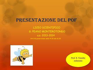 Presentazione del POF