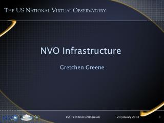 NVO Infrastructure