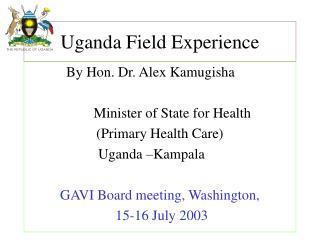 Uganda Field Experience