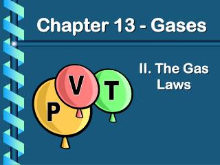 II. The Gas Laws