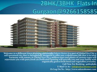 2BHK/3BHK  Flats In Gurgaon@9266158585