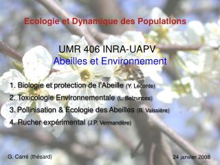 Ecologie et Dynamique des Populations