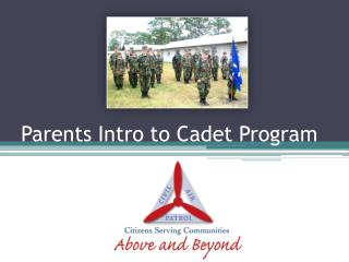Parents Intro to Cadet Program