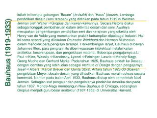 Bauhaus (1919-1933)