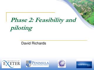 Phase 2: Feasibility and piloting