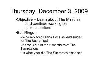 Thursday, December 3, 2009