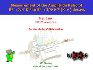 Measurement of the Amplitude Ratio of   B 0   J/   K *0 to  B 0   J/   K *0  (K +  - ) decays