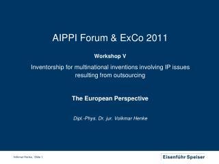 AIPPI Forum & ExCo 2011