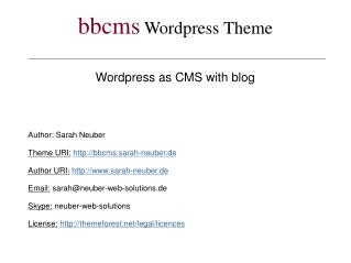 bbcms Wordpress Theme