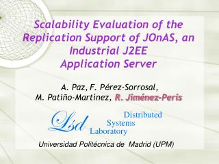 Distributed          Systems  Laboratory