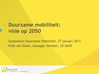 Duurzame mobiliteit: visie op 2050