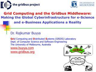 Dr. Rajkumar Buyya
