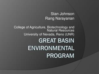 Great Basin Environmental Program