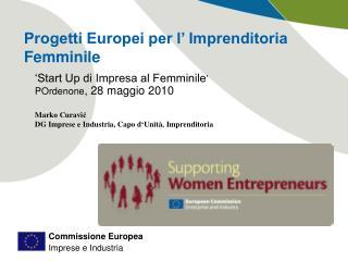 Progetti Europei per l' Imprenditoria Femminile