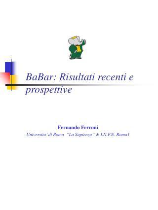 BaBar: Risultati recenti e prospettive