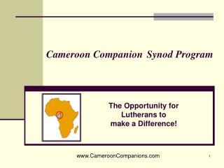 Cameroon Companion Synod Program