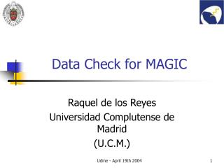 Data Check for MAGIC