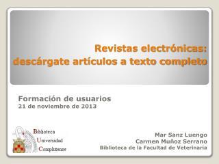 Revistas electr�nicas:  desc�rgate art�culos a texto completo