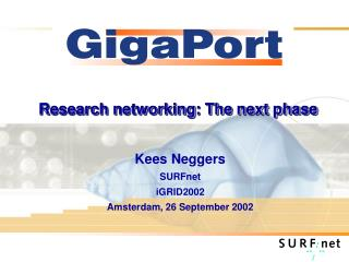 Research networking: The next phase