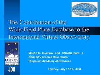 The Contribution of the  Wide-Field Plate Database to the   International Virtual Observatory
