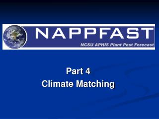 Part 4 Climate Matching