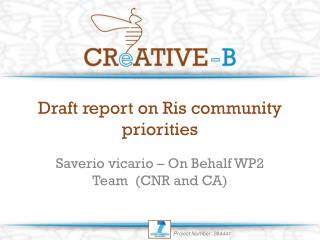 Draft report on Ris community priorities