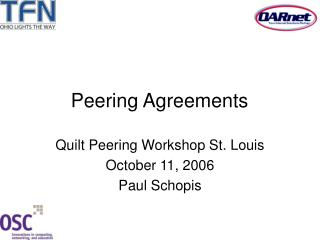Peering Agreements