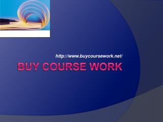 Buy Coursework