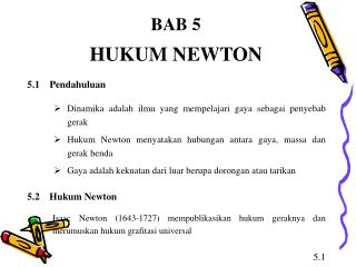 BAB 5 HUKUM NEWTON