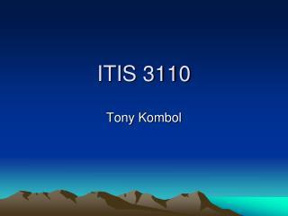 ITIS 3110