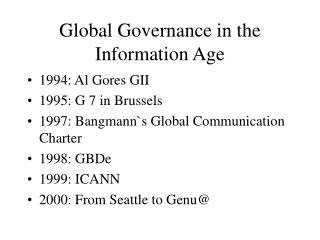 Global Governance in the Information Age