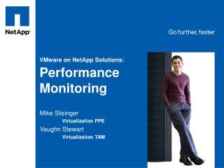 VMware on NetApp Solutions: Performance Monitoring