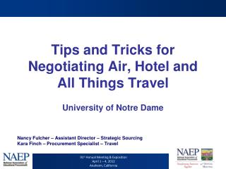 Tips and Tricks for Negotiating Air, Hotel and All Things Travel