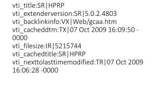 HPRP TRAINING