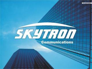 Agenda Vorstellung der SKYTRON Communications GmbH & Co KG Vorstellung der Übertragunstechnik