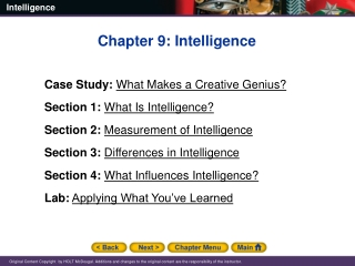 Chapter One Theoretical Foundations  Gardner s  Multiple Intelligences