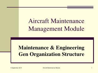 Aircraft Maintenance Management Module