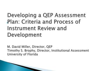 University of Florida Accreditation Process
