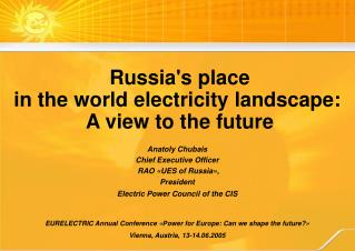 EURELECTRIC Annual Conference  « Power for Europe: Can we shape the future? »