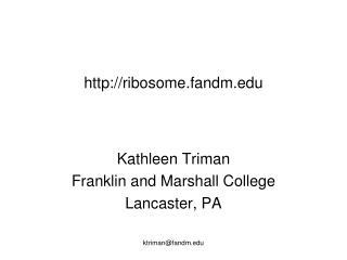 ribosome.fandm