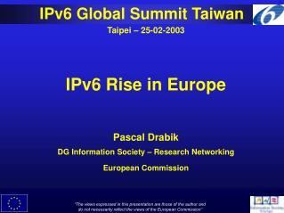 IPv6 Global Summit Taiwan