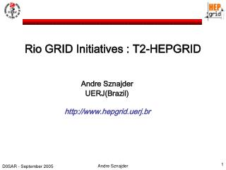 Rio GRID Initiatives : T2-HEPGRID