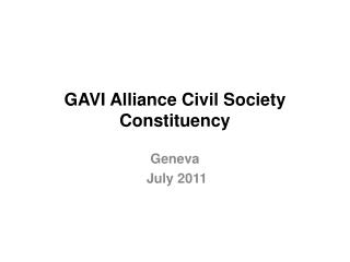 GAVI Alliance Civil Society Constituency