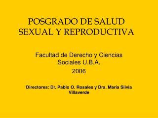 POSGRADO DE SALUD SEXUAL Y REPRODUCTIVA