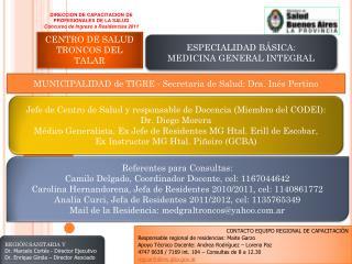 DIRECCION DE CAPACITACION DE  PROFESIONALES DE LA SALUD Concurso de Ingreso a Residencias 2011