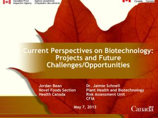 Current Perspectives on Biotechnology: Projects and Future Challenges/Opportunities