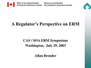 A Regulator's Perspective on ERM