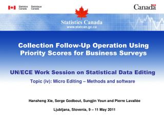 Collection Follow-Up Operation Using Priority Scores for Business Surveys